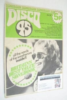 Disco 45 magazine - No 31 - May 1973 - Elton John cover