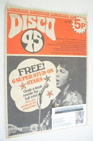 <!--1973-06-->Disco 45 magazine - No 32 - June 1973 - Paul McCartney cover