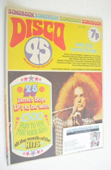 <!--1973-09-->Disco 45 magazine - No 35 - September 1973 - Peter Hope-Evans