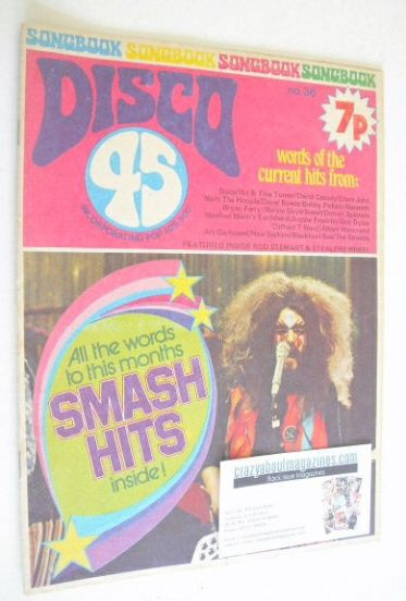 <!--1973-10-->Disco 45 magazine - No 36 - October 1973 - Roy Wood cover