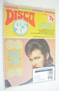 Disco 45 magazine - No 38 - December 1973 - Alvin Stardust cover