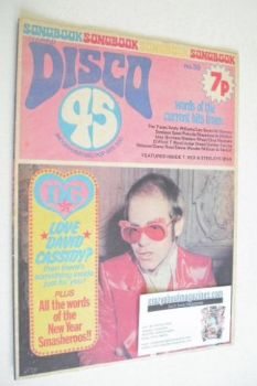 Disco 45 magazine - No 39 - January 1974 - Elton John cover