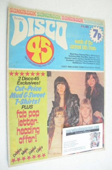<!--1974-02-->Disco 45 magazine - No 40 - February 1974 - Sweet cover