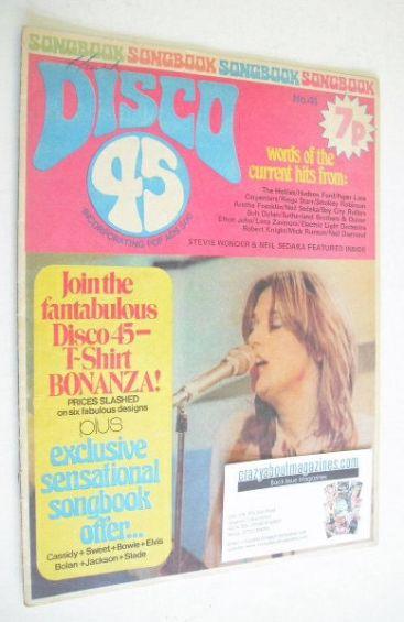 <!--1974-03-->Disco 45 magazine - No 41 - March 1974 - Suzi Quatro cover
