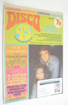 Disco 45 magazine - No 42 - April 1974 - The Carpenters cover