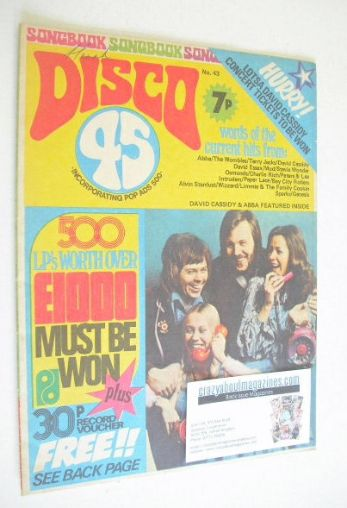 <!--1974-05-->Disco 45 magazine - No 43 - May 1974 - Abba cover