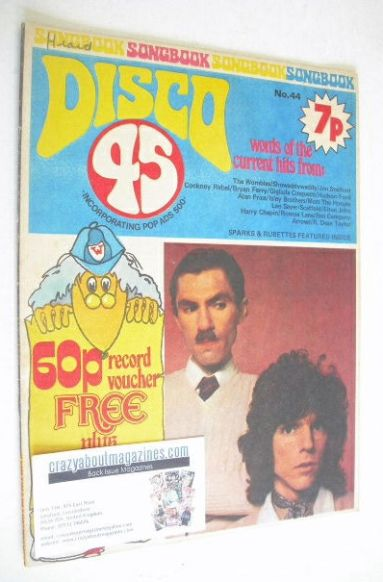 <!--1974-06-->Disco 45 magazine - No 44 - June 1974