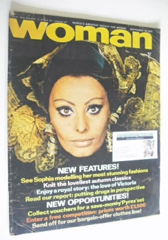 Woman magazine - Sophia Loren cover (26 September 1970)