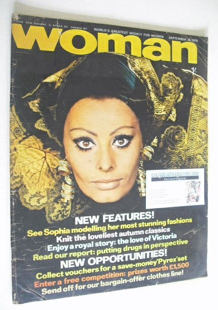 <!--1970-09-26-->Woman magazine - Sophia Loren cover (26 September 1970)