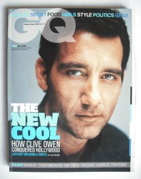 British GQ magazine - September 2007 - Clive Owen cover