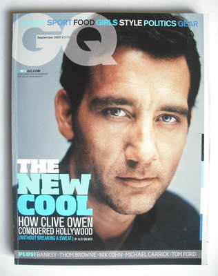 <!--2007-09-->British GQ magazine - September 2007 - Clive Owen cover