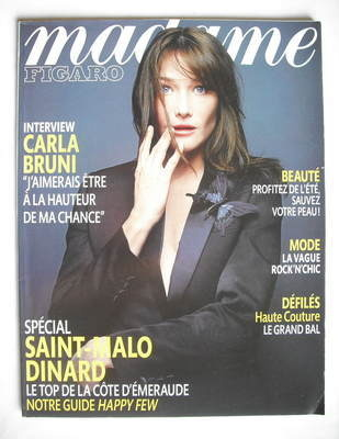 <!--2008-07-19-->Madame Figaro magazine - 19 July 2008 - Carla Bruni cover