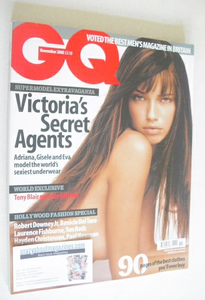 <!--2002-11-->British GQ magazine - November 2002 - Adriana Lima cover