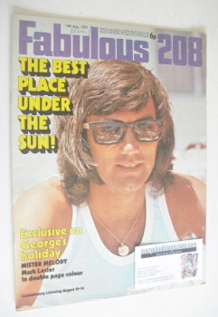 Fabulous 208 magazine (14 August 1971 - George Best cover)