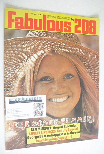 <!--1971-08-07-->Fabulous 208 magazine (7 August 1971)