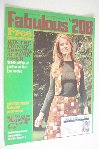 <!--1971-07-31-->Fabulous 208 magazine (31 July 1971)