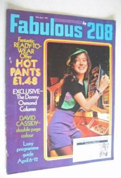 <!--1971-04-10-->Fabulous 208 magazine (10 April 1971)
