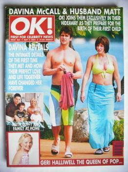 OK! magazine - Matthew Robertson and Davina McCall cover (4 May 2001 - Issue 262)