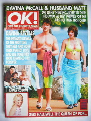 <!--2001-05-04-->OK! magazine - Matthew Robertson and Davina McCall cover (