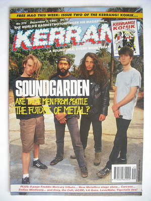 <!--1991-12-07-->Kerrang magazine - Soundgarden cover (7 December 1991 - Is