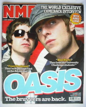 NME magazine - Oasis cover (30 April 2005)