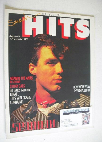 <!--1980-12-11-->Smash Hits magazine - Martin Kemp cover (11-24 December 19