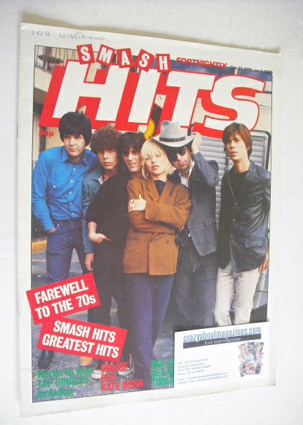 <!--1979-12-27-->Smash Hits magazine - Blondie cover (27 December 1979 - 9