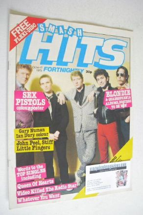 <!--1979-10-04-->Smash Hits magazine - Squeeze cover (4-17 October 1979)