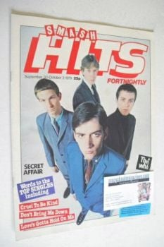 Smash Hits magazine - Secret Affair cover (20 September - 3 October 1979)