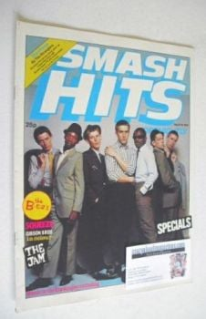 Smash Hits magazine - The Specials cover (6-19 September 1979)