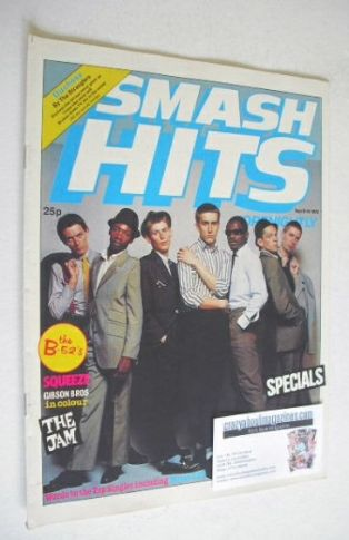 <!--1979-09-06-->Smash Hits magazine - The Specials cover (6-19 September 1
