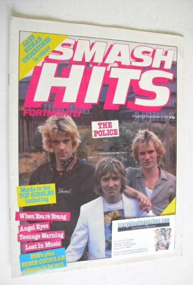 <!--1979-08-23-->Smash Hits magazine - The Police cover (23 August - 5 Sept