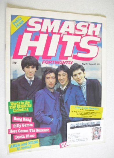 <!--1979-07-26-->Smash Hits magazine - The Buzzcocks cover (26 July - 8 Aug