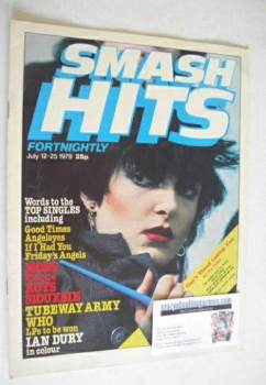 Smash Hits magazine - Siouxsie Sioux cover (12-25 July 1979)