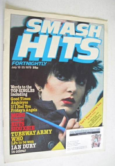 <!--1979-07-12-->Smash Hits magazine - Siouxsie Sioux cover (12-25 July 197