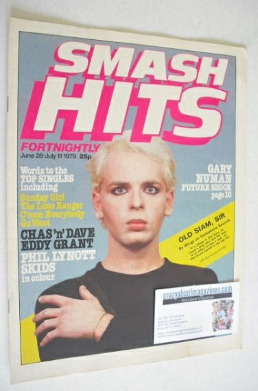 <!--1979-06-28-->Smash Hits magazine - Gary Numan cover (28 June - 11 July