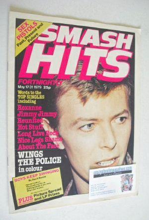 <!--1979-05-17-->Smash Hits magazine - David Bowie cover (17-31 May 1979)