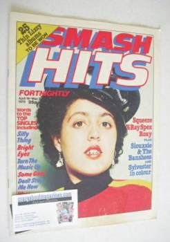 Smash Hits magazine - Poly Styrene cover (19 April - 2 May 1979)