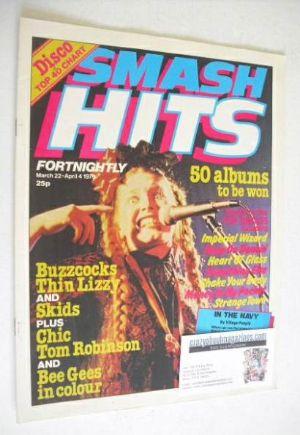 <!--1979-03-22-->Smash Hits magazine - Lene Lovich cover (22 March-4 April