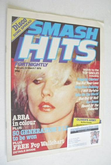 <!--1979-02-22-->Smash Hits magazine - Debbie Harry cover (22 February-7 Ma