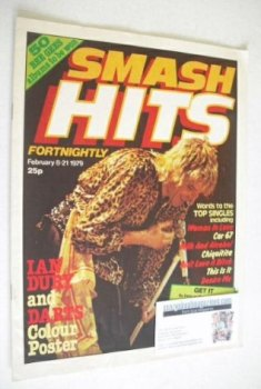 Smash Hits magazine - Rod Stewart cover (8-21 February 1979 - No 5)