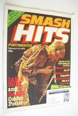 <!--1979-02-08-->Smash Hits magazine - Rod Stewart cover (8-21 February 197