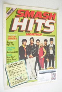 Smash Hits magazine - Blondie cover (November 1978 - Issue 1)