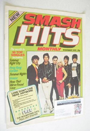<!--1978-11-->Smash Hits magazine - Blondie cover (November 1978 - Issue 1)