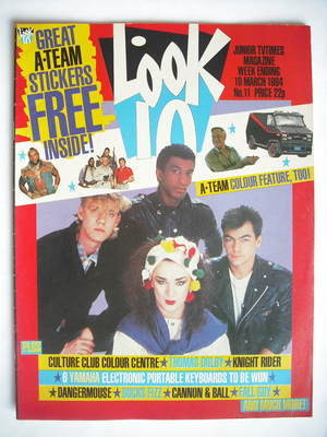 <!--1984-03-10-->Look In magazine - Culture Club cover (10 March 1984)