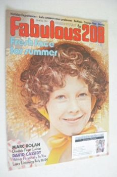 Fabulous 208 magazine (22 July 1972)