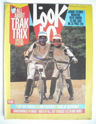 <!--1984-08-25-->Look In magazine - Trak Trix cover (25 August 1984)