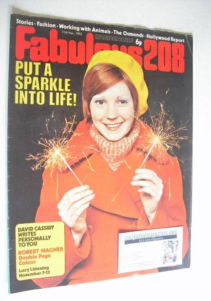 <!--1972-11-11-->Fabulous 208 magazine (11 November 1972)