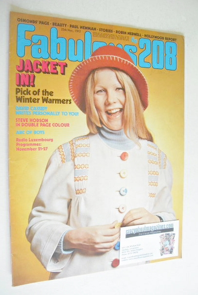 <!--1972-11-25-->Fabulous 208 magazine (25 November 1972)