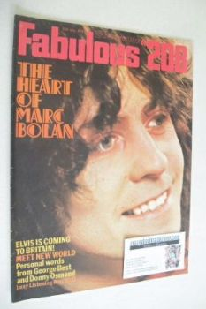 Fabulous 208 magazine (15 May 1971 - Marc Bolan cover)